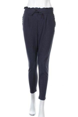 Γυναικείο παντελόνι ONLY, Μέγεθος L, Χρώμα Μπλέ, 63% βισκόζη, 32% πολυαμίδη, 5% ελαστάνη, Τιμή 22,43€