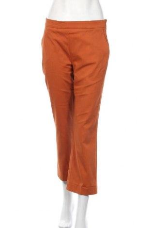 Дамски панталон Odeeh, Размер S, Цвят Оранжев, 75% памук, 22% лиосел, 3% еластан, Цена 19,08лв.