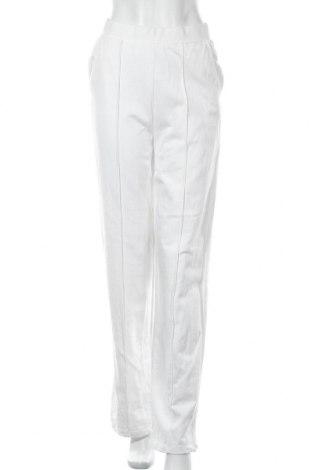 Дамски панталон Stradivarius, Размер M, Цвят Бял, 100% памук, Цена 24,08лв.