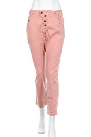 Дамски панталон Tom Tailor, Размер XL, Цвят Розов, 97% памук, 3% еластан, Цена 20,16лв.