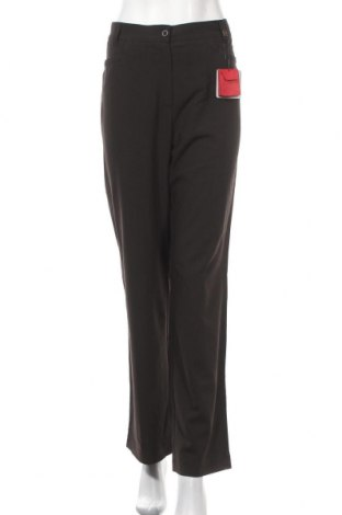 Дамски панталон Wissmach, Размер L, Цвят Кафяв, 62% полиестер, 33% вискоза, 5% еластан, Цена 8,93лв.