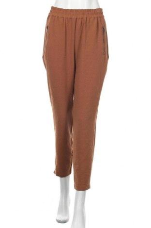 Дамски панталон Zavanna, Размер S, Цвят Кафяв, 96% полиестер, 4% еластан, Цена 17,75лв.