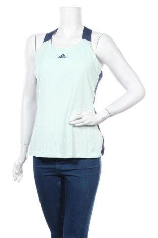 Γυναικείο αμάνικο μπλουζάκι Adidas, Μέγεθος L, Χρώμα Πράσινο, 80% πολυαμίδη, 20% ελαστάνη, Τιμή 15,16€
