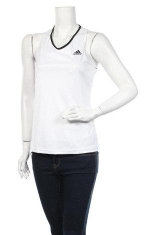 Γυναικείο αμάνικο μπλουζάκι Adidas, Μέγεθος M, Χρώμα Λευκό, Τιμή 15,59€