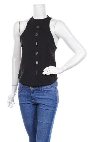Γυναικείο αμάνικο μπλουζάκι Adidas, Μέγεθος S, Χρώμα Μαύρο, Βαμβάκι, Τιμή 21,90€