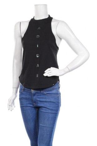 Γυναικείο αμάνικο μπλουζάκι Adidas, Μέγεθος XS, Χρώμα Μαύρο, Βαμβάκι, Τιμή 23,75€