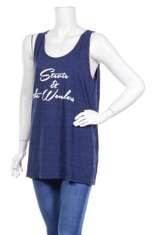 Γυναικείο αμάνικο μπλουζάκι American Apparel, Μέγεθος L, Χρώμα Μπλέ, 50% πολυεστέρας, 25% βαμβάκι, 25% βισκόζη, Τιμή 3,64€
