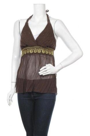 Γυναικείο αμάνικο μπλουζάκι Heart Soul, Μέγεθος L, Χρώμα Καφέ, Τιμή 5,36€