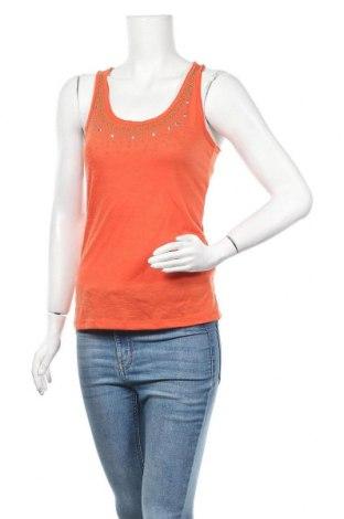 Γυναικείο αμάνικο μπλουζάκι Mshll Girl, Μέγεθος XS, Χρώμα Πορτοκαλί, 65% πολυεστέρας, 35% βισκόζη, Τιμή 2,90€
