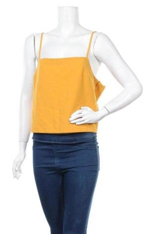Γυναικείο αμάνικο μπλουζάκι Mtwtfss Weekday, Μέγεθος L, Χρώμα Κίτρινο, 78% πολυεστέρας, 19% βισκόζη, 3% ελαστάνη, Τιμή 6,59€