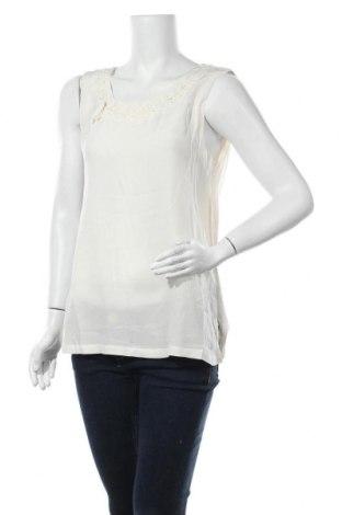 Γυναικείο αμάνικο μπλουζάκι Nice Connection, Μέγεθος L, Χρώμα  Μπέζ, Μετάξι, βαμβάκι, Τιμή 13,25€