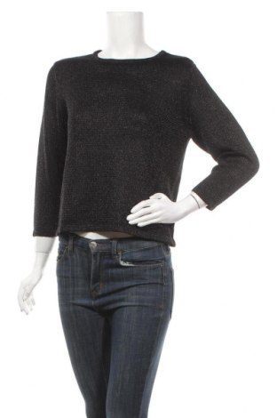 Γυναικείο πουλόβερ, Μέγεθος XS, Χρώμα Μαύρο, 40% πολυακρυλικό, 36% πολυεστέρας, 24% μεταλλικά νήματα, Τιμή 17,54€