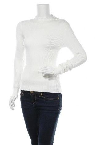 Дамски пуловер Fashion nova, Размер S, Цвят Бял, 49% вискоза, 30% полиестер, 21% полиамид, Цена 39,00лв.
