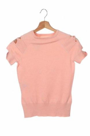 Γυναικείο πουλόβερ Herve Leger, Μέγεθος XS, Χρώμα Ρόζ , 55% μετάξι, 35% πολυαμίδη, 10% κασμίρι, Τιμή 31,61€
