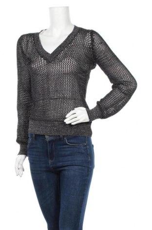Дамски пуловер Isabell Kristensen, Размер M, Цвят Черен, 50% памук, 40% акрил, 10% метални нишки, Цена 7,61лв.