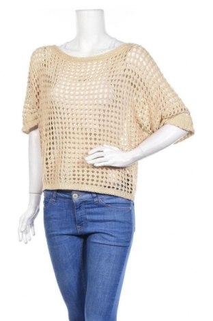 Γυναικείο πουλόβερ Made In Italy, Μέγεθος M, Χρώμα  Μπέζ, 50%ακρυλικό, 50% βαμβάκι, Τιμή 5,46€