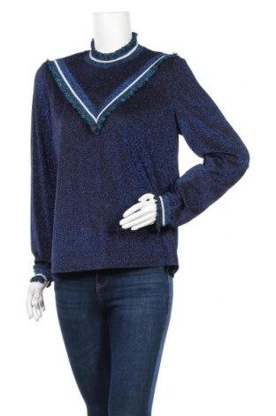 Дамски пуловер Vero Moda, Размер L, Цвят Син, 65% полиамид, метални нишки, 5% еластан, Цена 26,25лв.