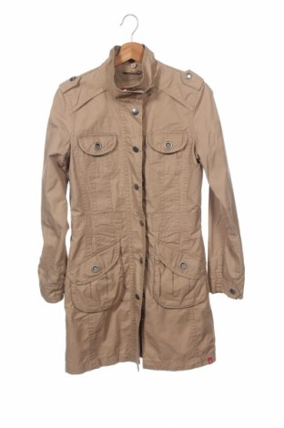 Дамски шлифер Edc By Esprit, Размер XS, Цвят Бежов, Памук, Цена 11,03лв.