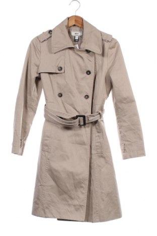 Дамски шлифер Mango, Размер XS, Цвят Бежов, Памук, Цена 38,90лв.