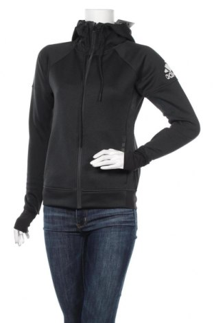 Γυναικείο φούτερ Adidas, Μέγεθος XS, Χρώμα Μαύρο, Τιμή 29,23€