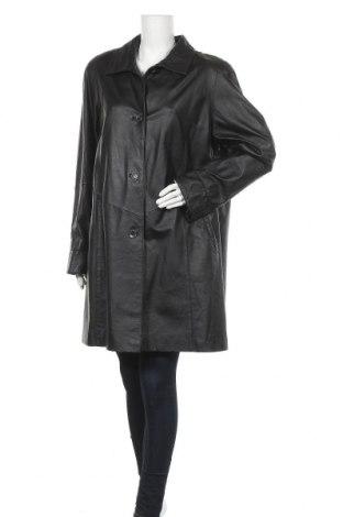 Дамско кожено палто, Размер XL, Цвят Черен, Естествена кожа, Цена 106,21лв.