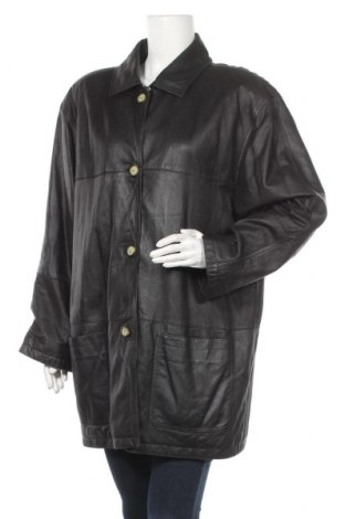 Дамско кожено палто, Размер XL, Цвят Черен, Естествена кожа, Цена 63,84лв.