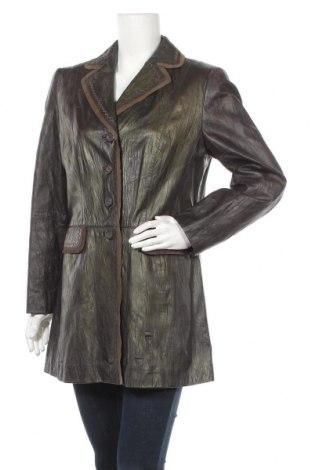 Дамско кожено палто Gerry Weber, Размер L, Цвят Зелен, Естествена кожа, Цена 83,27лв.