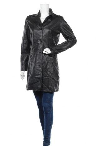 Дамско кожено палто Gipsy, Размер S, Цвят Черен, Естествена кожа, Цена 93,87лв.