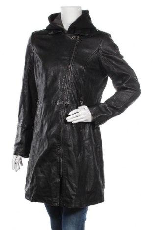 Дамско кожено палто Gipsy, Размер XL, Цвят Черен, Естествена кожа, Цена 291,75лв.