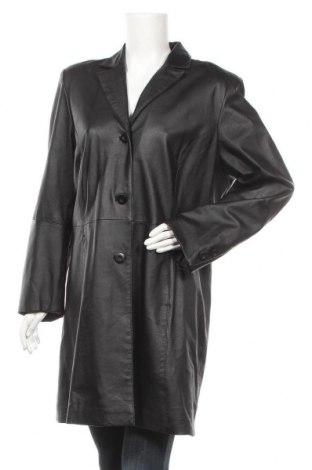 Дамско кожено палто Ms Mode, Размер XL, Цвят Черен, Естествена кожа, Цена 87,78лв.