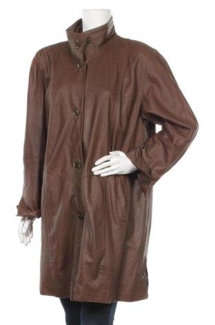 Дамско кожено палто Peter Hahn, Размер XL, Цвят Кафяв, Естествена кожа, Цена 69,62лв.