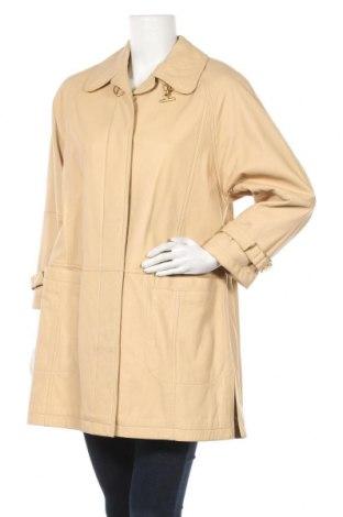 Дамско кожено палто Peter Hahn, Размер L, Цвят Бежов, Естествена кожа, Цена 79,17лв.