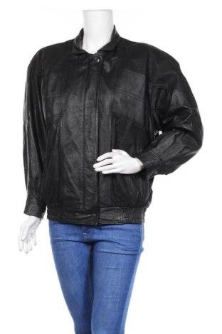 Γυναικείο δερμάτινο μπουφάν, Μέγεθος M, Χρώμα Μαύρο, Γνήσιο δέρμα, Τιμή 15,23€