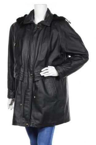 Γυναικείο δερμάτινο μπουφάν, Μέγεθος L, Χρώμα Μαύρο, Γνήσιο δέρμα, Τιμή 19,72€