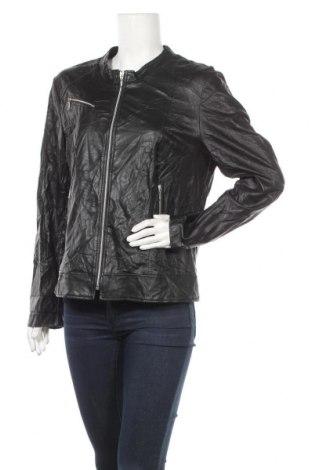 Дамско кожено яке Mongul, Размер XL, Цвят Черен, Еко кожа, Цена 23,94лв.