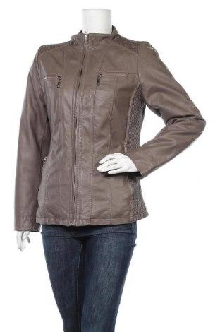 Дамско кожено яке, Размер L, Цвят Кафяв, Еко кожа, Цена 33,92лв.