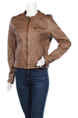 Дамско кожено яке, Размер M, Цвят Кафяв, Еко кожа, Цена 39,90лв.