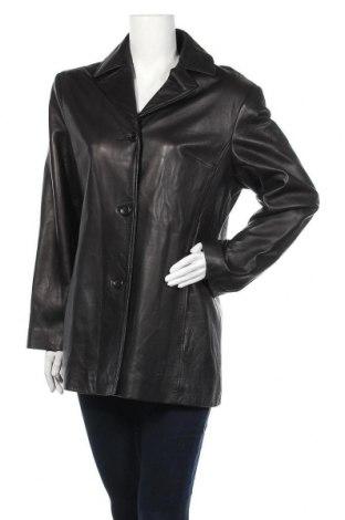 Γυναικείο δερμάτινο μπουφάν Anne Klein, Μέγεθος L, Χρώμα Μαύρο, Γνήσιο δέρμα, Τιμή 30,44€