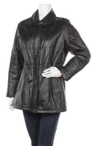 Дамско кожено яке Burberrys, Размер L, Цвят Черен, Естествена кожа, Цена 119,70лв.