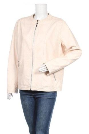 Дамско кожено яке Cool Code, Размер XXL, Цвят Бежов, Еко кожа, Цена 53,55лв.