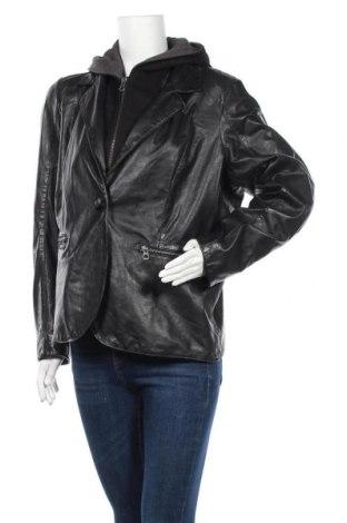 Дамско кожено яке Gipsy, Размер XXL, Цвят Черен, Естествена кожа, Цена 280,08лв.