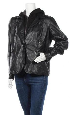 Дамско кожено яке Gipsy, Размер XL, Цвят Черен, Естествена кожа, Цена 269,25лв.