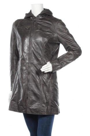 Дамско кожено яке Gipsy, Размер L, Цвят Сив, Естествена кожа, Цена 280,08лв.