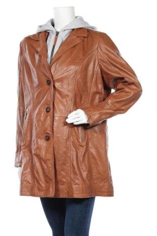 Дамско кожено яке Gipsy, Размер XXL, Цвят Кафяв, Естествена кожа, Цена 280,08лв.