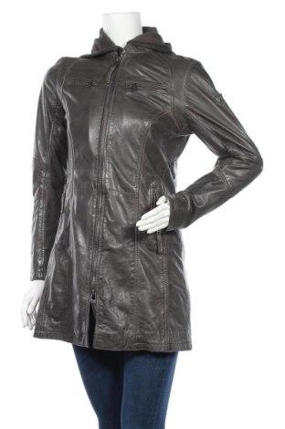 Дамско кожено яке Gipsy, Размер M, Цвят Сив, Естествена кожа, Цена 269,25лв.