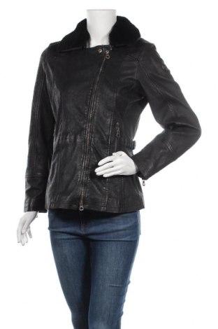 Дамско кожено яке Gipsy, Размер M, Цвят Черен, Естествена кожа, Цена 284,25лв.