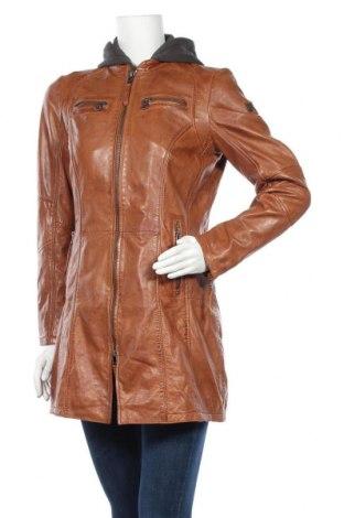 Дамско кожено яке Gipsy, Размер S, Цвят Кафяв, Естествена кожа, Цена 269,25лв.