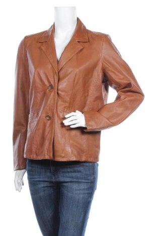 Дамско кожено яке Gipsy, Размер XL, Цвят Кафяв, Естествена кожа, Цена 236,88лв.