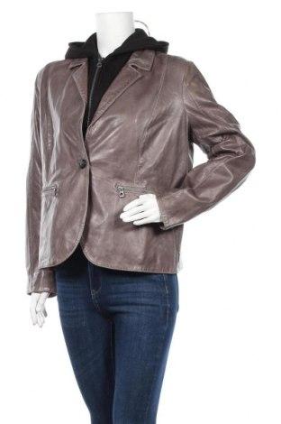 Дамско кожено яке Gipsy, Размер XL, Цвят Сив, Естествена кожа, Цена 280,08лв.