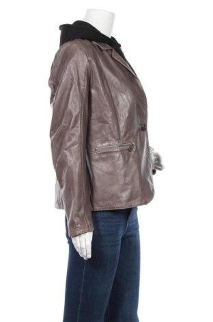 Дамско кожено яке Gipsy, Размер XL, Цвят Сив, Естествена кожа, Цена 291,75лв.